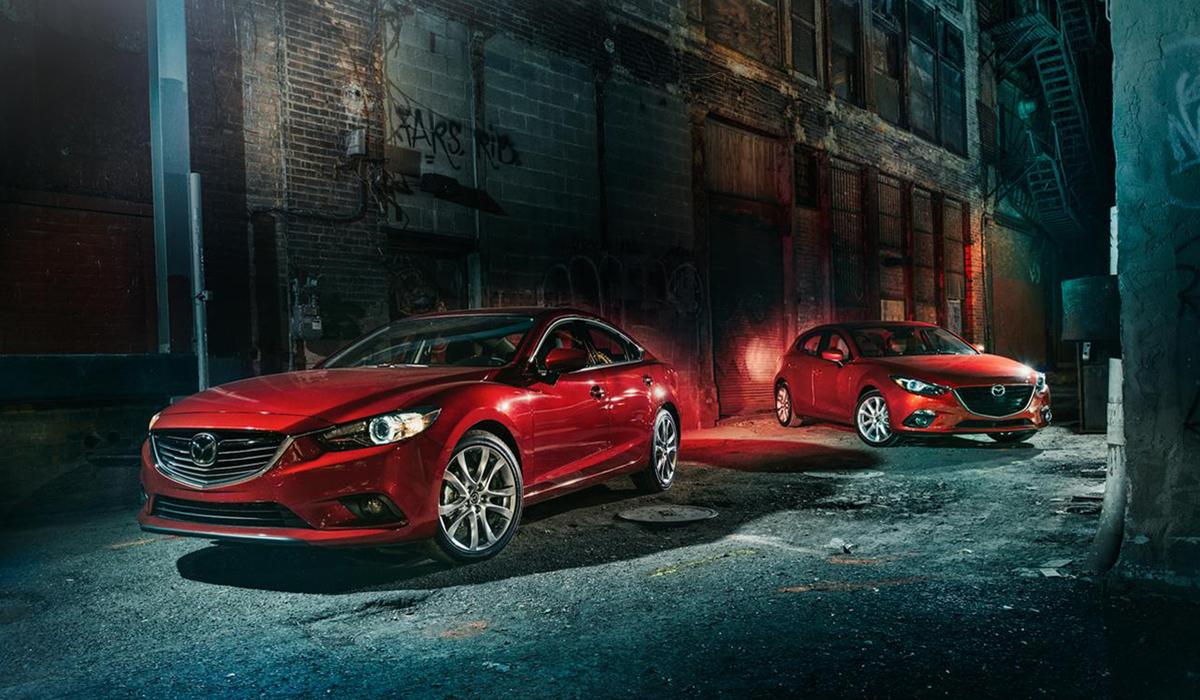 Mazda Red Car